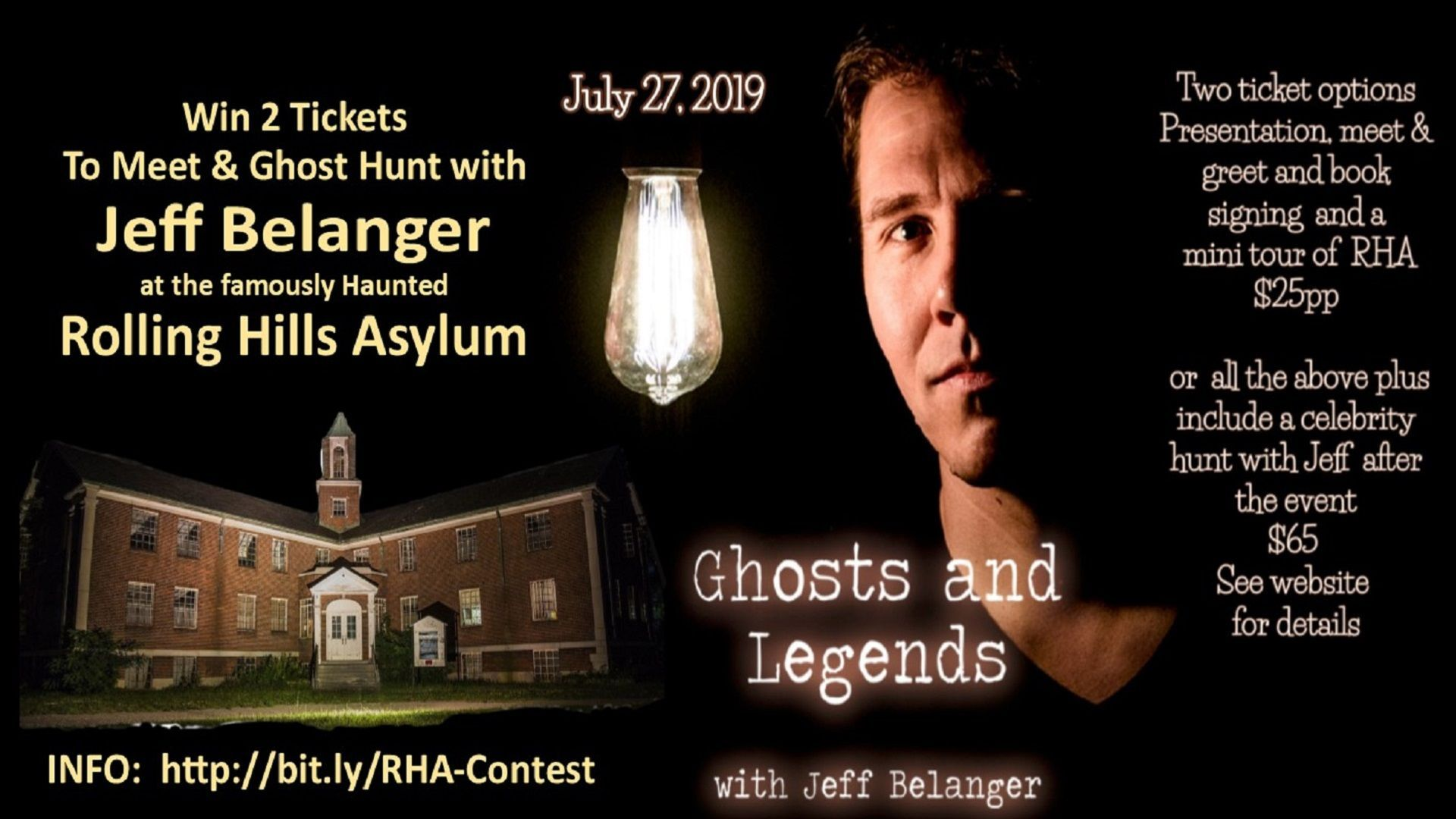 Win Tickets to Ghost Hunt with Jeff Belanger at RHA!