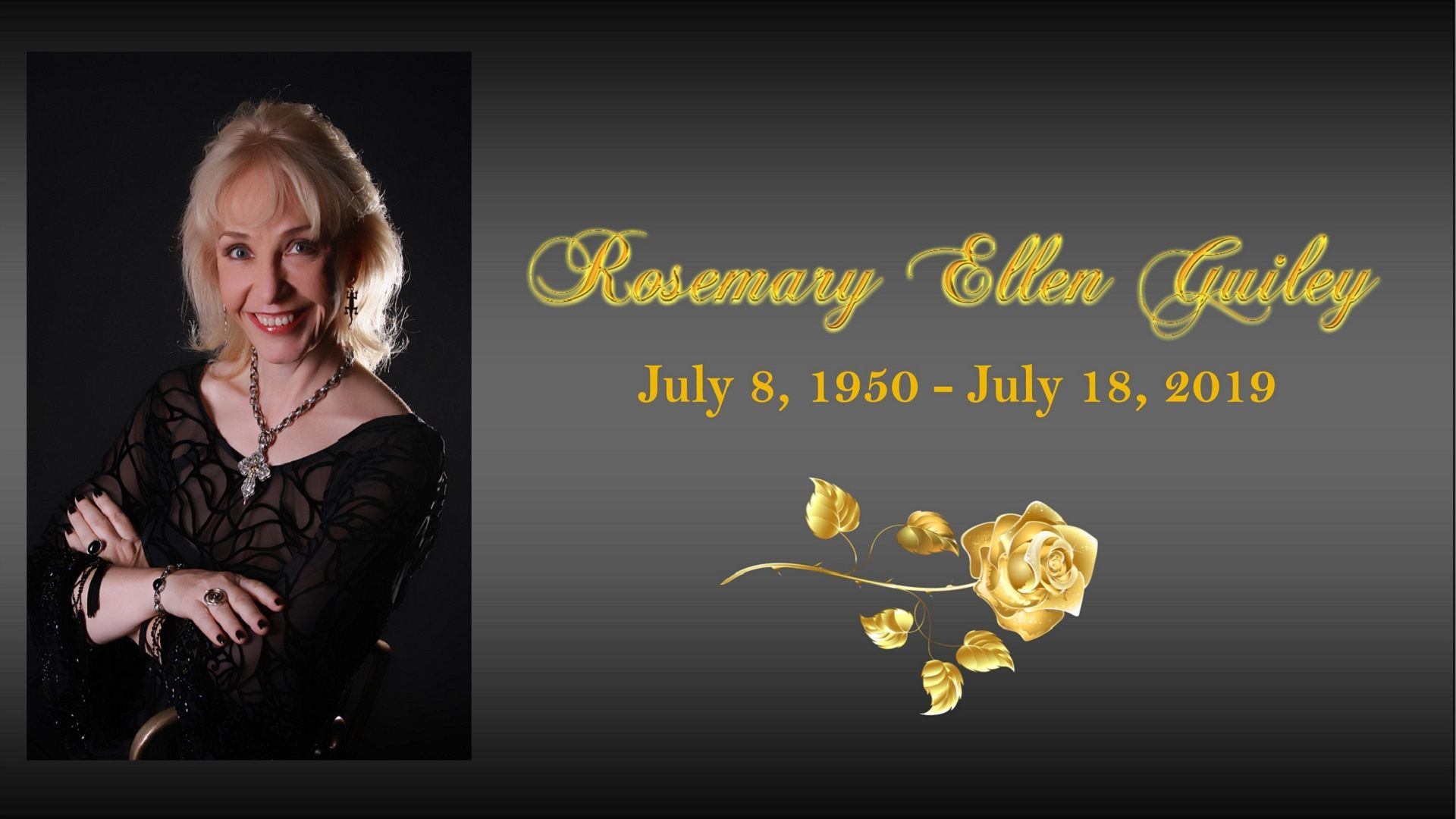 A Tribute to Rosemary Ellen Guiley