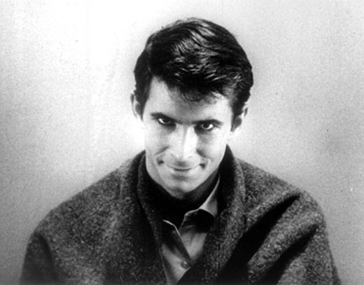 The eerie and spooky smile of Norman Bates