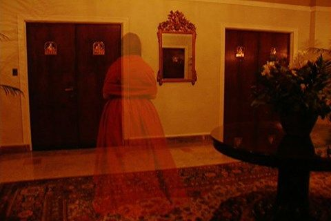 The Lady in Red's Apparition appears in several locations at The Drake Hotel
