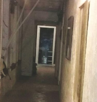 Image of specter at the Haunted Grand Imperial Hotel