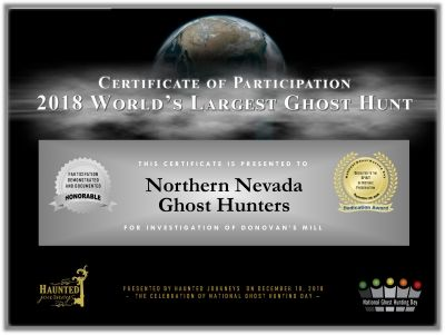 2018 World's Largest Ghost Hunt
