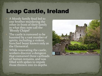 Haunted Spectral in Leap Castle
