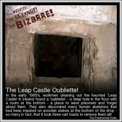 Haunted Murder Hole in Leap Castle