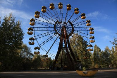 Amusement Park that never opened at the Chernobyl Nuclear Plant Site