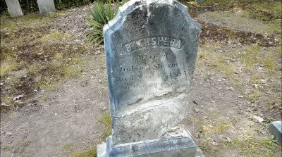 The Haunted Conjuring House - Bathseba's Headstone, now missing